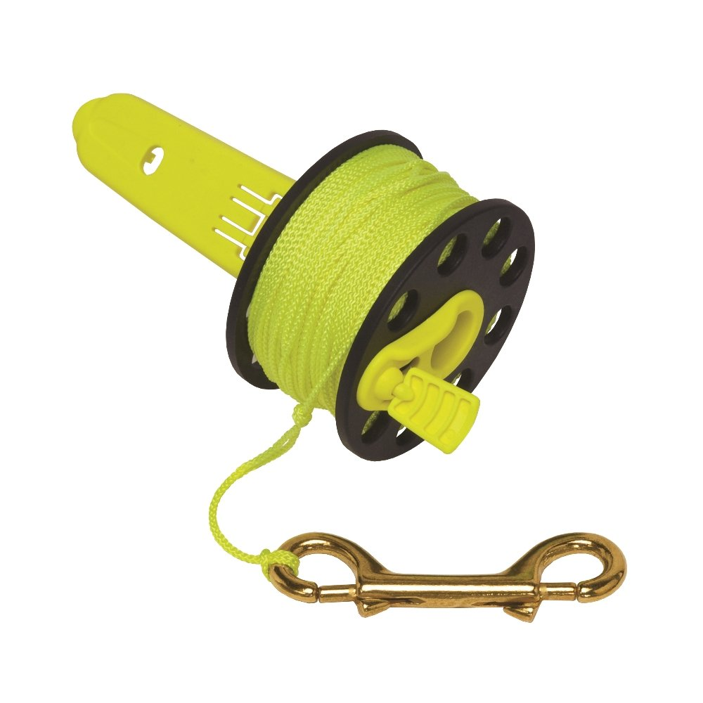 Innovative Scuba Finger Spool With Hand Winder And Brass Clip Light And Corrosion Free FL0239