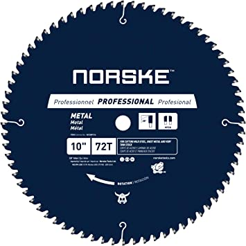 Norske Tools Ncsbp216 10 Inch 72t Metal Cutting Saw Blade For Steel Roofing Metal Siding Steel Pipe Steel Studs More 5 8 Inch Bore Amazon Com