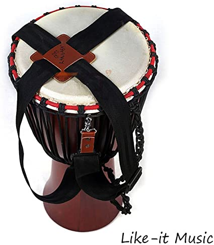 Drum Is Not Including Adjustable Djembe Shoulder Strap with Thickening Pad//Drum Sling//African Drum Shoulder Harness//African Hand Percussion Accessories