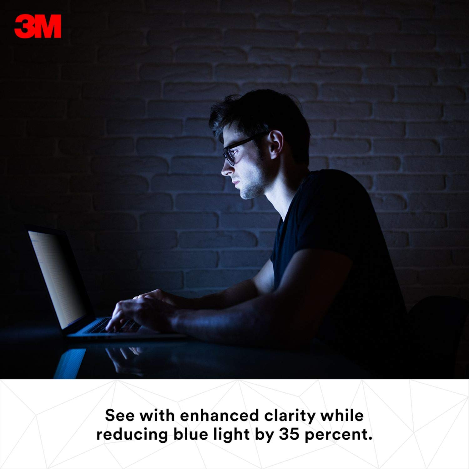 3M Privacy Filter for 15.6'' Edge-to-Edge Widescreen Laptop (PF156W9E) by 3M (Image #4)