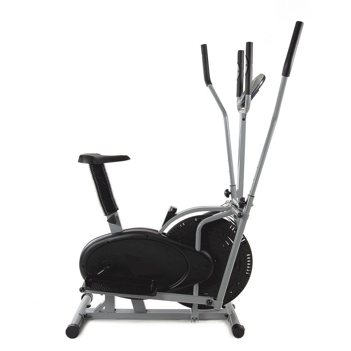 Bicicleta est/ática y el/íptica Cross Trainer dos en uno