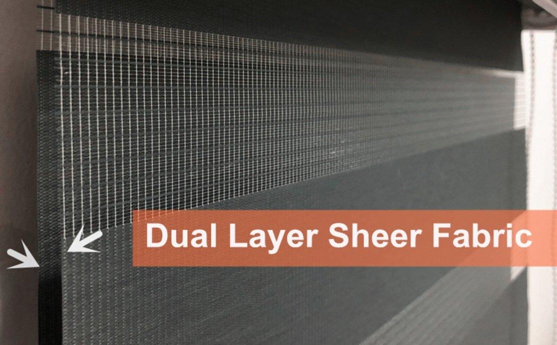 Custom Size Basic Horizontal Zebra Blinds Windows (Max Width 93