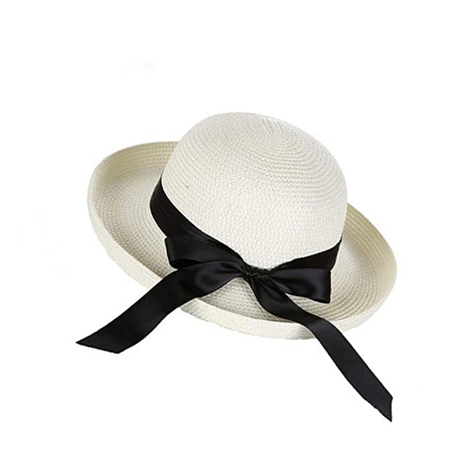 cee645e14 Fashion Women Summer Sun Hat Straw Bow Tie Beach Hat Fashion Vintage ...