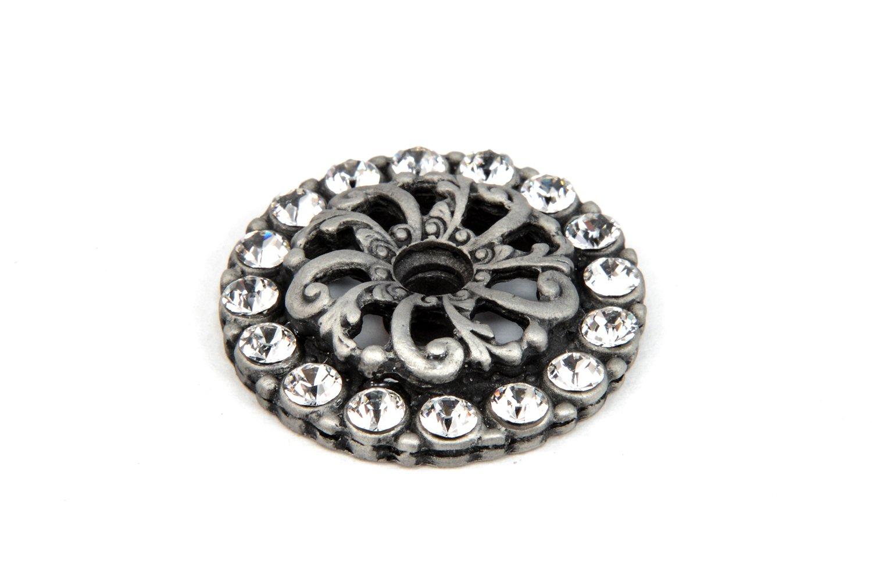 Carpe Diem Hardware 884-11C Cache Satin Escutcheon with Swarovski Crystals