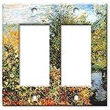 nautical wall covers - Monet: Stiller Winkle - Double Rocker Switch Plate