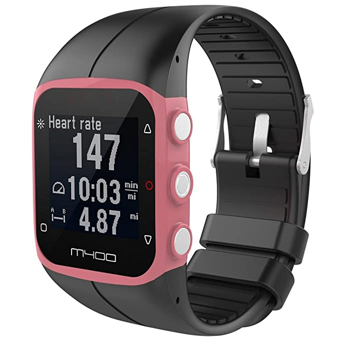 para Reloj Polar M400 Correas Colores Bandas de Reemplazo Suave Silicona Correas Pulsera para Polar M430 GPS Reloj Smartwatch, Ancho de Bbanda 23MM by ...