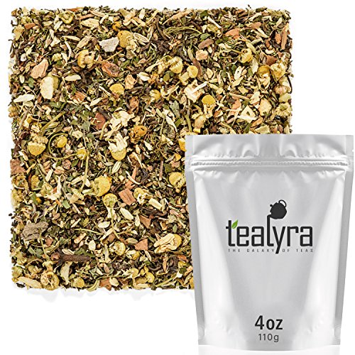Tealyra - Rest and Digest - Calming Chamomile - Fennel - Anise - Peppermint - Herbal Tea Loose Leaf Tea - Relaxing and Digestive Tea - Caffeine-Free - All Natural - 110g (4-ounce)