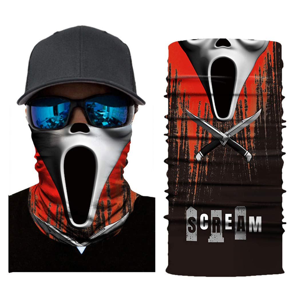 HighlifeS Cycling Motorcycle Head Scarf Full Function Ski Motorcycle Neck Tube Warmer Cycling Biker Scarf Wind Face Mask (E)