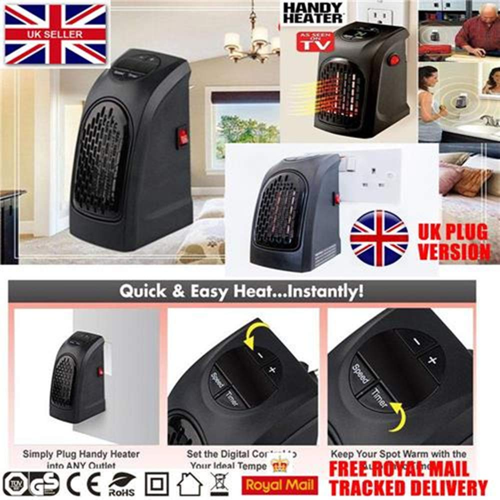 Motoki 2 X 400W Home Heater Personal Fan UK Plug Mini Heating With Thermal Ceramic Technology