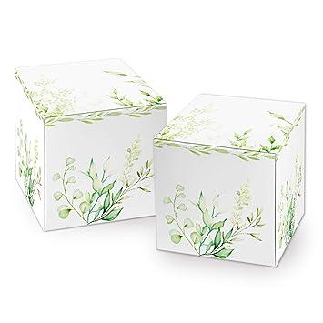 Logbuch-Verlag - Caja de cartón pequeña verde, caja de 7 x 7 ...