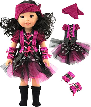 Metallic Ruffle Shoes 3 Colors 18 in Doll Clothes Fits American Girl