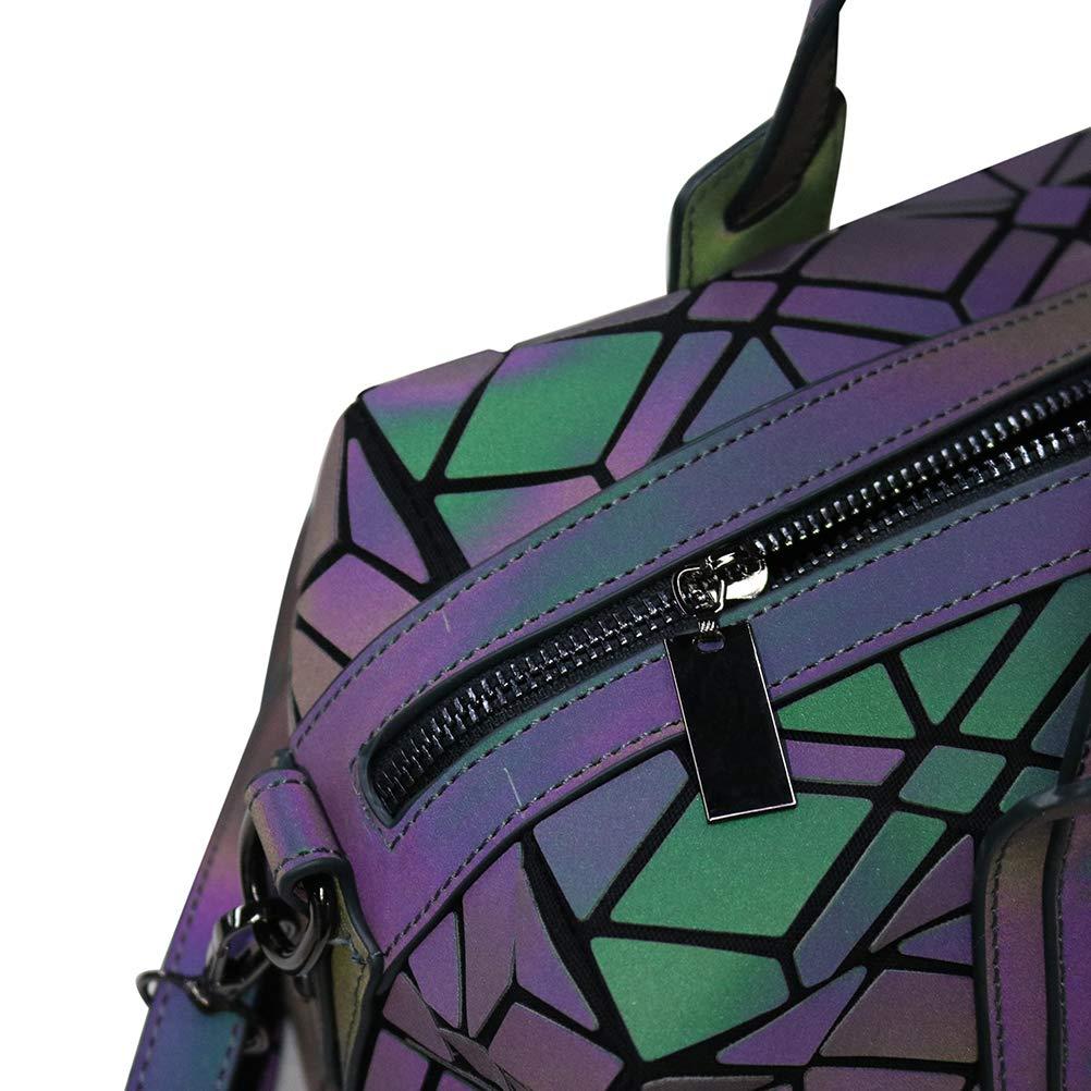 GOWETION Kvinnor geometrisk lysande handväskor axelväska axelväska axelväska messenger tygväska handväska för flickor Luminous 1
