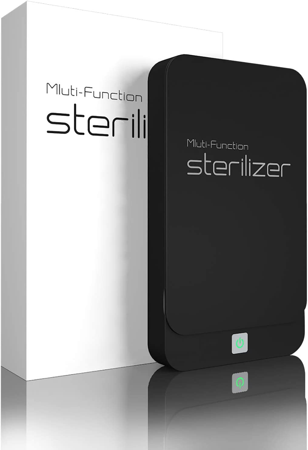 Portable UV Cell Phone Sanitizer with USB Charger – Multi-Use UV Light Disinfection for Smartphone iPhone 6 6s 7s Plus Toothbrush Watches Jewelry – Aromatherapy Hub UV Sterilizer Cleaner Case (Black)