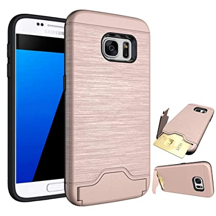 Amazon.com: Funda para Samsung Galaxy S7/S7 Edge con soporte ...
