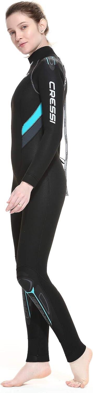 Cressi Castoro Lady Monopiece Wetsuit Muta Subacquea Donna in Neoprene High Stretch Disponibile in 5 o 7 mm