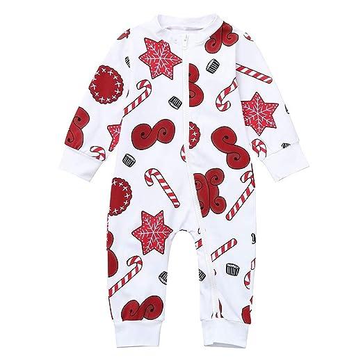 296441b5a31 Christmas Specials!Toddler Newborn Baby Girls Boys Cartoon Snowflake Zipper  Romper Xmas Jumpsuit (White