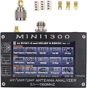 Gogdog Analizador de antena Mini1300, TFT, LCD, 0,1-1300 MHz ...