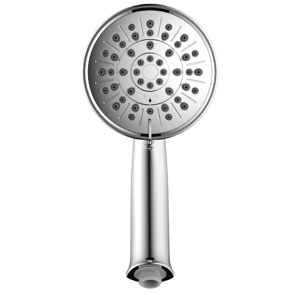 "Elvoes High Pressure shower head set 3 spray settings 5"" handheld showerhead with hose and bracket holder, adjustable mount,chrome finish, easy to install"
