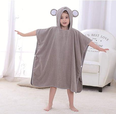 Hadishi Albornoz para Bebés, Niños-Niñas Bata -100% Algodón - Niños Vestir Forma del Vestido De La Albornoz del Bebé del Animal del Verano Linda del Servicio De (27 * 55In),D,27 * 55in: