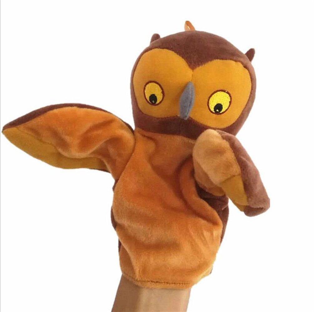 EoamIk Burattini Cute Cartoon Animal Doll Bambini Mano Puppet Peluche Bunny Finger Toys (Gufo)