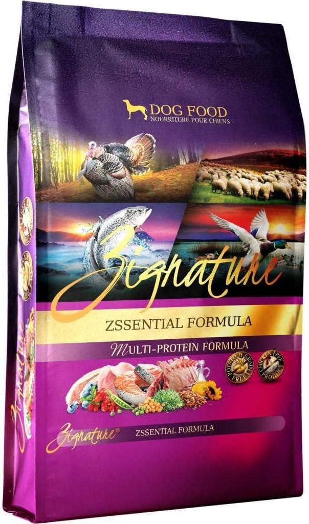Zignature Zssentials Dry Dog Food Formula 4 lb. Bag, with Turkey, Lamb, Duck & Salmon