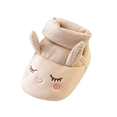 dee742c78 Image Unavailable. Image not available for. Color: Baby Boy Girl Cute  Cartoon Animal Soft Sole Shoes ...