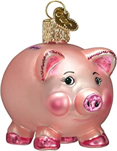Old World Christmas Pigs Glass Blown Ornaments for Christmas Tree Piggy Bank