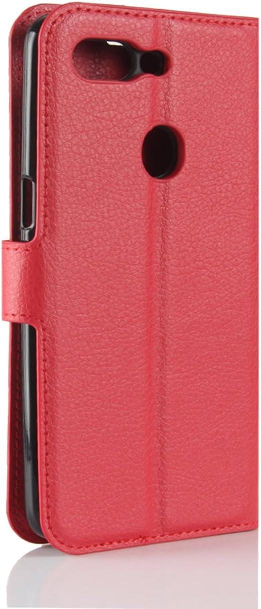 HualuBro Oppo R15 Pro - Funda de piel sintética con tapa para Oppo R15 Pro marrón marrón: Amazon.es: Electrónica