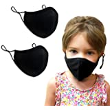 Purian Kids Face Mask, Reusable with Adjustable Ear Straps, Premium Multi Layer Antimicrobial Cotton Fabric, Fits…