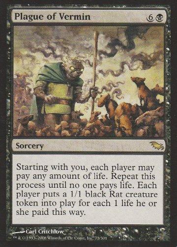 Gathering Shadowmoor Single Card - Plague of Vermin (Magic the Gathering : Shadowmoor #73 Rare)