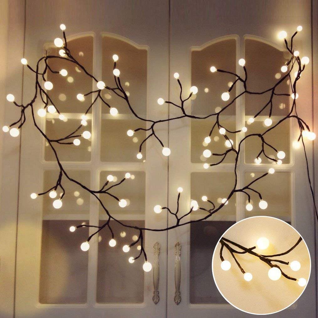 classic fit 88eda 7a958 Globe Decorative String Lights,BaiYunPOY 8.3Ft 72 LED Hanging  Indoor/Outdoor String Lights for Garden,Xmas Party,Bedroom,Dorm,Window  Curtain ...