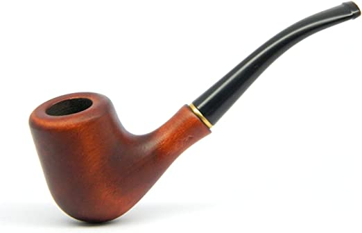 """3"""" Smoke Pipe Crafted Real Wooden Mini Smoke Pipes Pocket Size Tobacco"""
