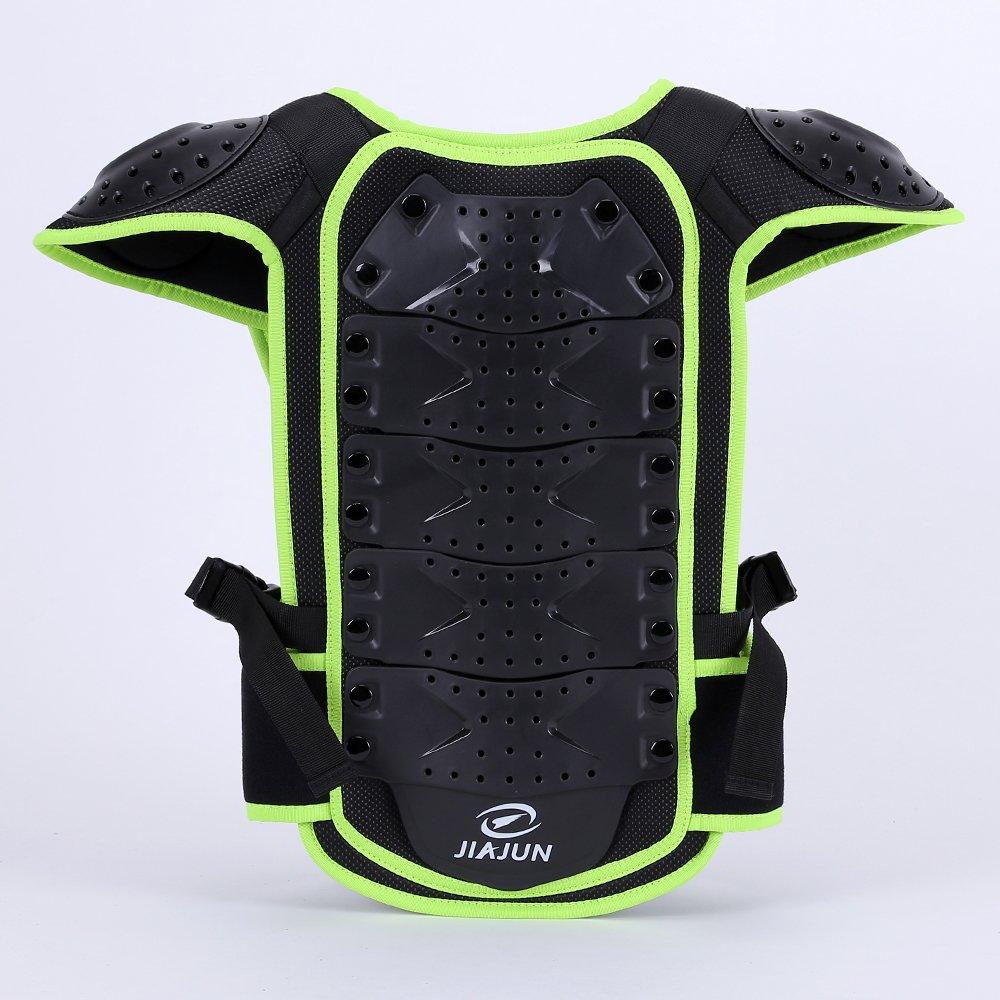 JIAJUN Children Bicycle Motorcycle Armor Armor Vest Back Protection Cycling Skiing Riding Skateboarding