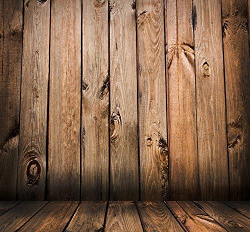 Yeele 9x9ft Photography Background Retro Realistic Wood Wall and Floor Scene Props Photo Backdrop Studio Props
