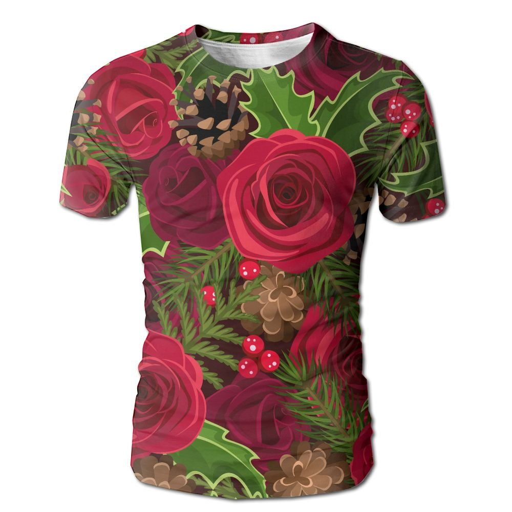 XIA WUEY Romance Rose AdultCool Baseball Tshirt Graphic Tees Tops For Cycling by XIA WUEY