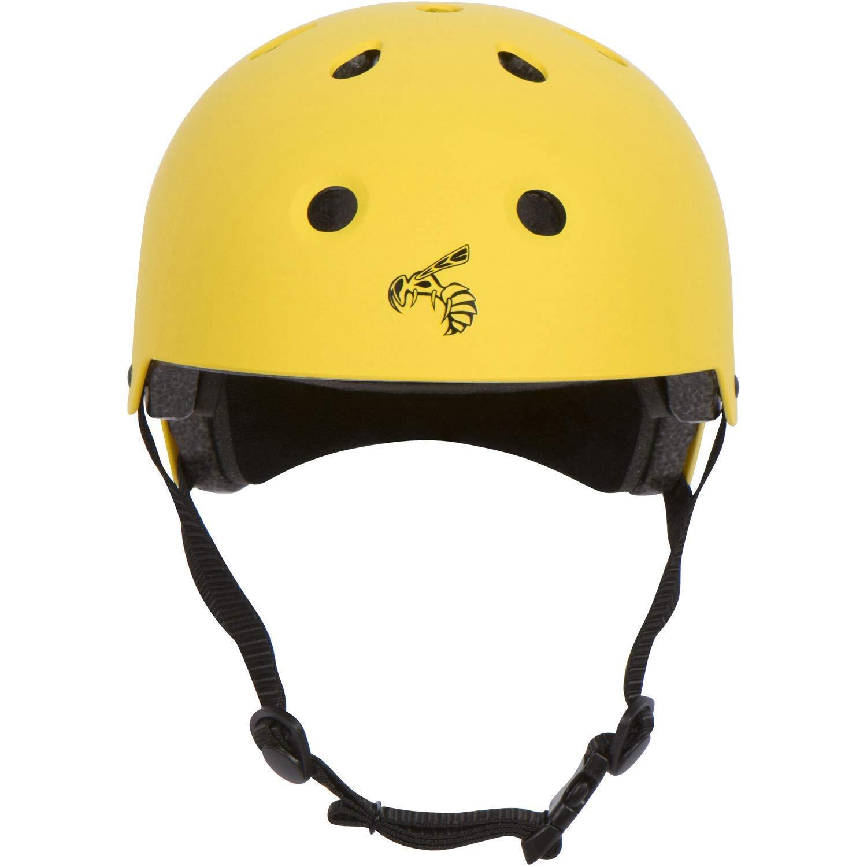 Yellow Jacket Certified Skateboard Helmet - CPSC ASTM Certified Impact Resistance Ventilation Multi-Sport, Yellow Jacket - Large