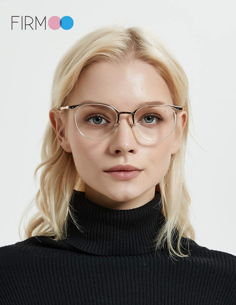 Firmoo Occhiali Luce Blu Nero Contro il Riflesso Montature da Donna//Uomo Occhiali per Computer Anti Affaticamento