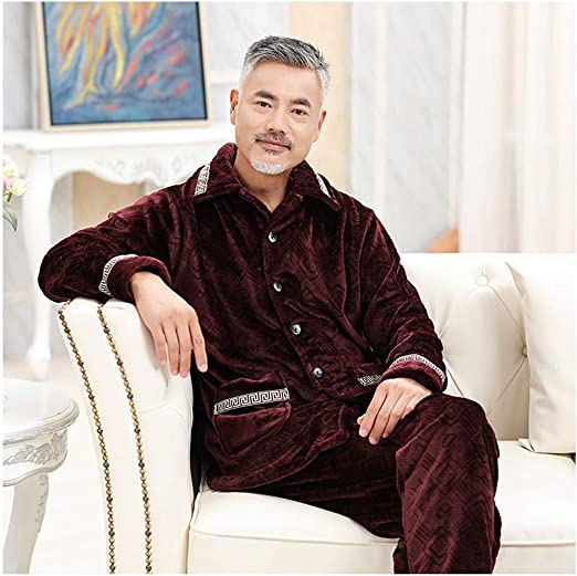 Hajotrawa Mens Turn Down Slim Fit Long Sleeve Fleece Fall Winter Button Front Shirts