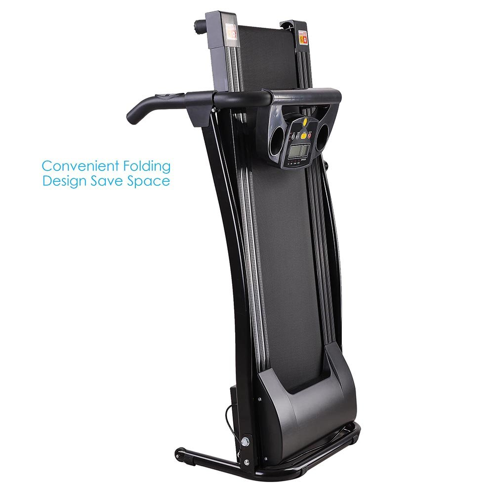 AW 1100W Folding Electric Treadmill Portable Power Motorized Machine Running Jogging Gym Exercise Fitness Black by AW (Image #4)