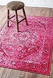 nuLOOM MCGZ01B Bohemian Reiko Area Rug, 8′ x 10′, Pink