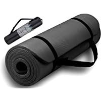 Exercise Yoga Mat 15mm Thick With Carrying Strap For Men & Women - Non Slip Exercise Mat For Yoga, Pilates, Gym, Home…