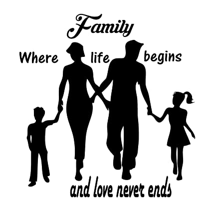 Amazon com: Family Quotes Wall Decals is a Vinyl Wall Decal