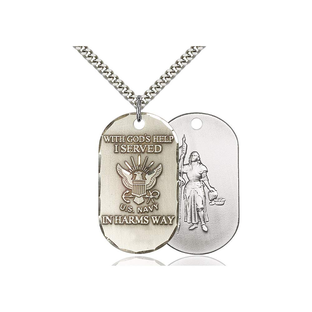 DiamondJewelryNY Sterling Silver Navy Pendant