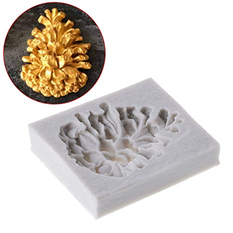 Biniwa - Molde de silicona para fondant de pino de Navidad, moldes para galletas,