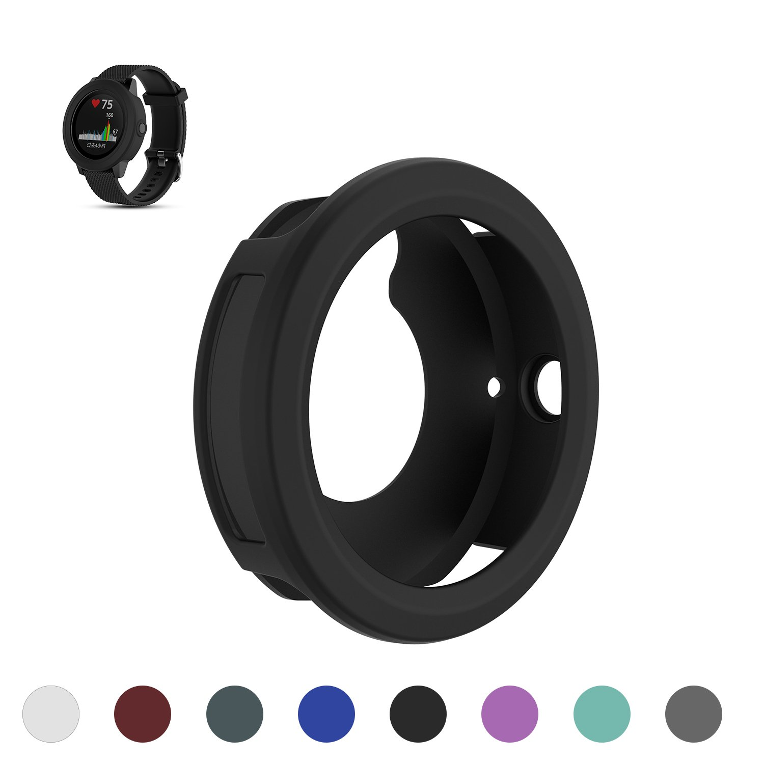 FitTurn case Compatible with Garmin Fenix 5X Plus Case Replacement TPU Accessory Shock-Proof /& Shatter-Resistant Protective Silicone Band Case Cover Sleeve Shell Case with Dust Plug for Fenix 5X Plus