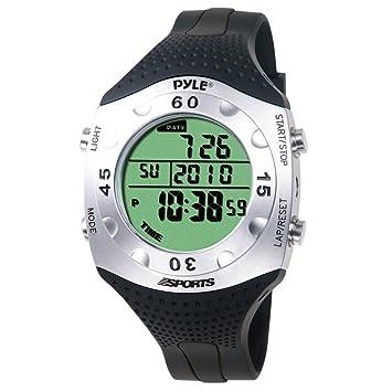 Pyle Montre de plongée avancé Reloj Digital Deportivo, Unisex, Negro