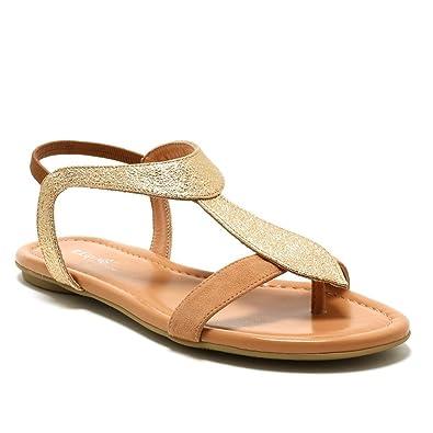 37fbeaae02c Reqins ETI - Bernie - Sandale Salome - Peche  Amazon.fr  Chaussures ...