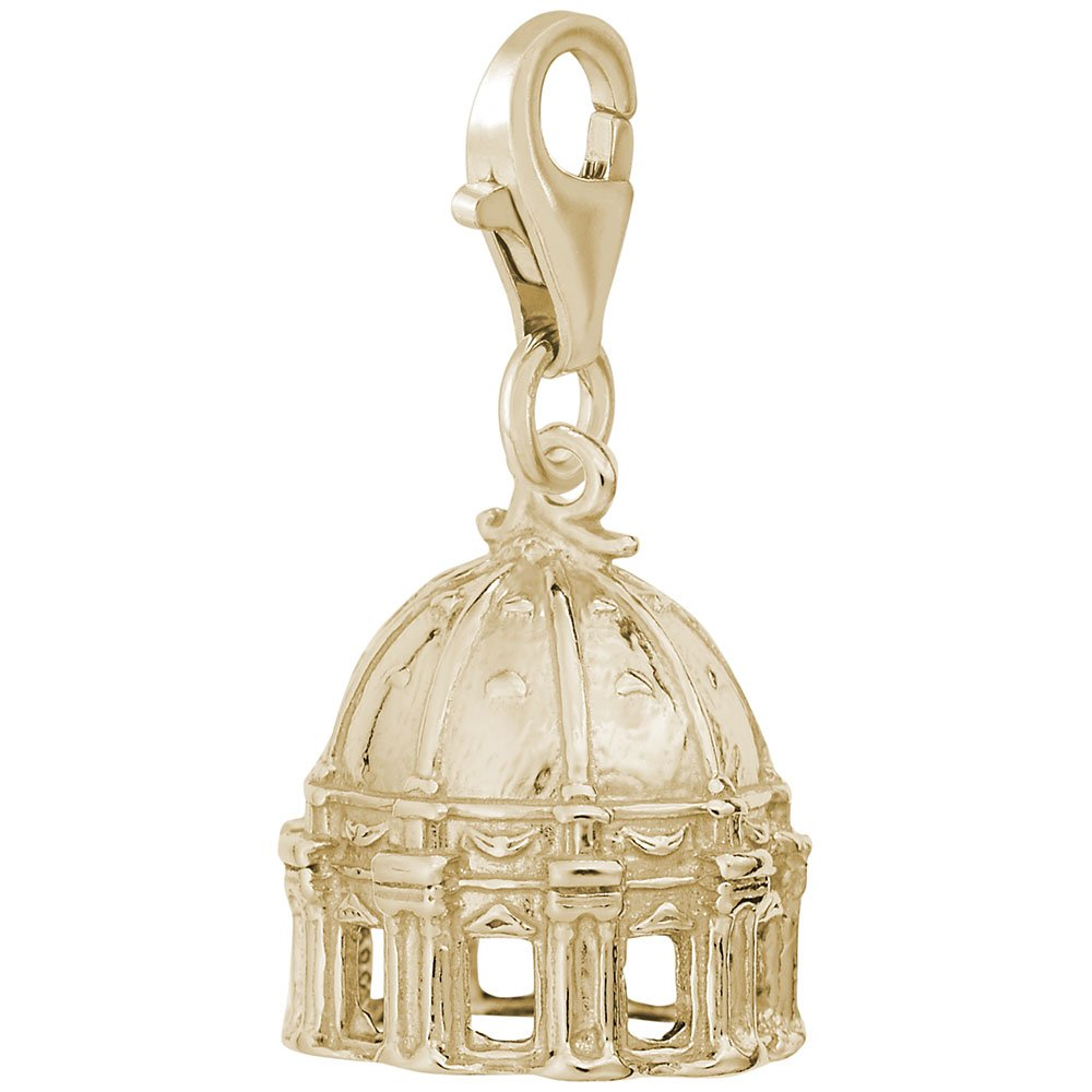Charms for Bracelets and Necklaces St Peters Basilica Charm With Lobster Claw Clasp