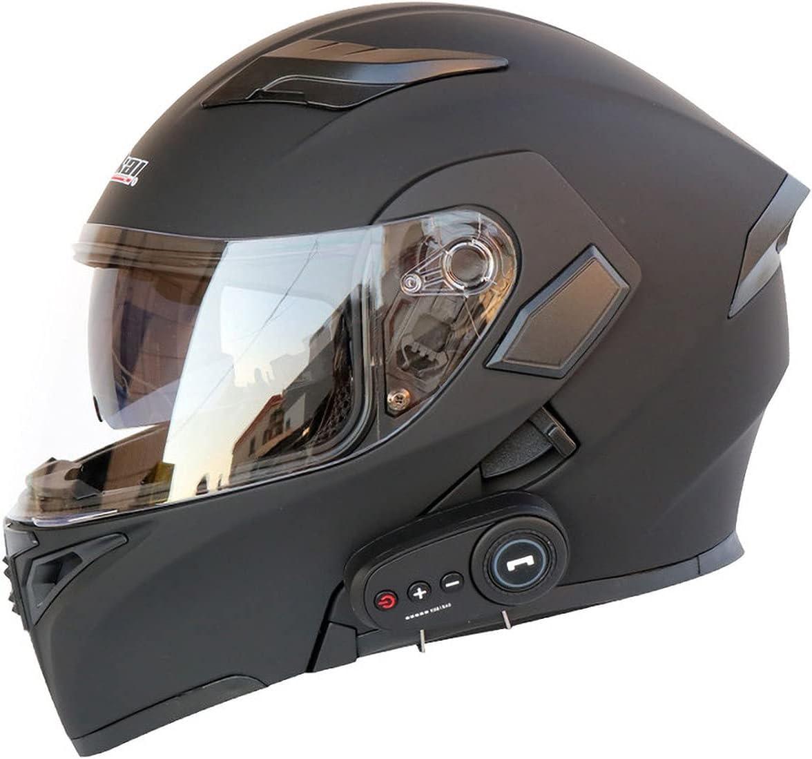 Cascos Modulare Integral Doble Lente Y Auricular Bluetooth Casco Seguridad Unisex para AutomóVil EléCtrico Que Se Puede Abrir Y Cerrar VentilacióN Certificado ECE