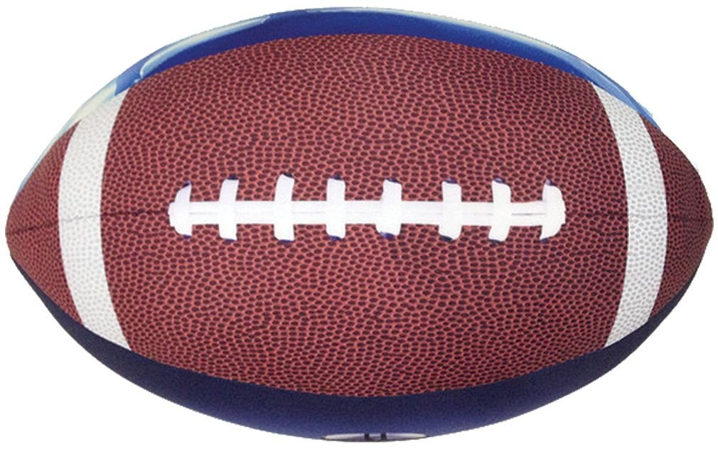 iscream Game On! Photoreal Football Shaped 16'' x 12'' x 12'' Microbead Accent Pillow
